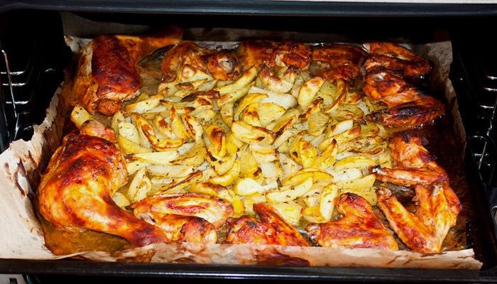 Блюдо крылышки в духовке