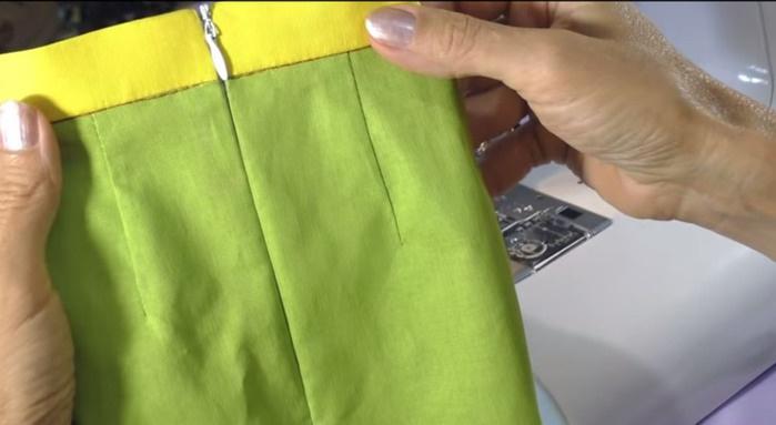 Как сделать пояс для юбки с молнией 99
