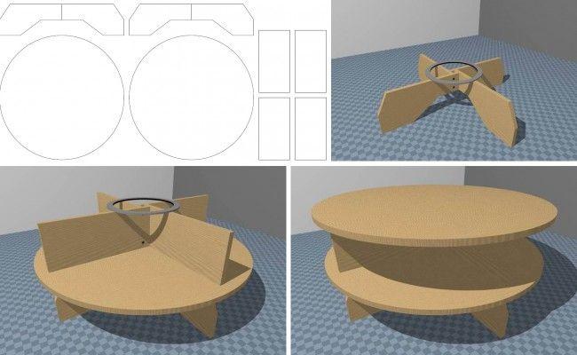 Как сделать журнальный столик из картона своими руками 23