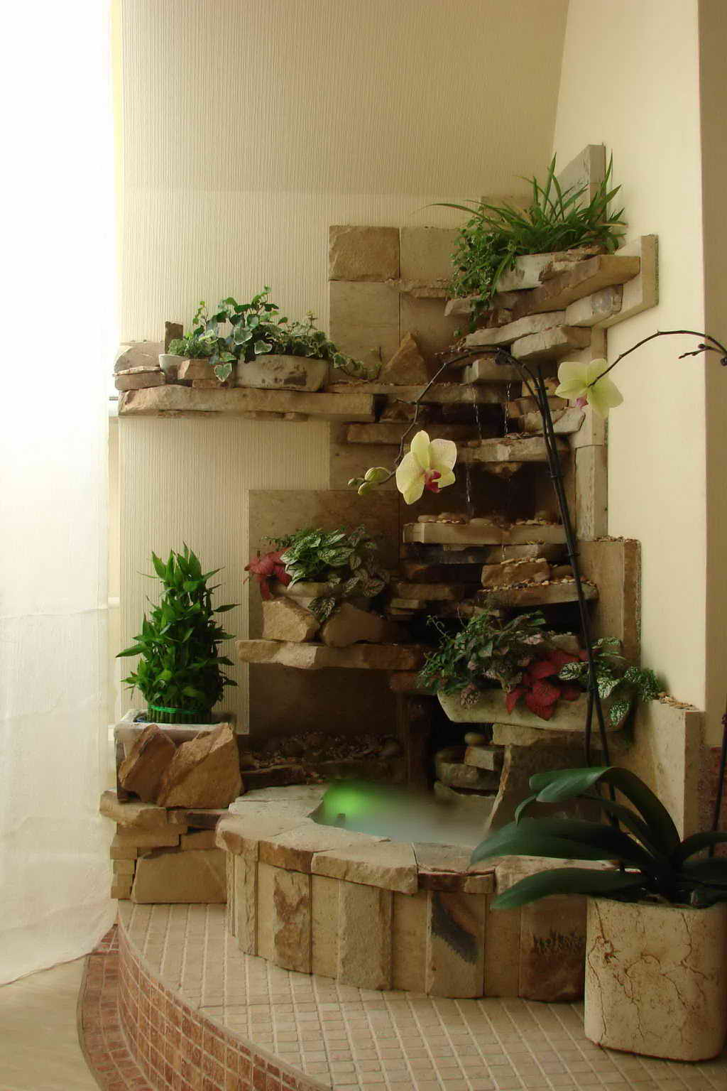 Декоративные водопады для дома своими рукам 46