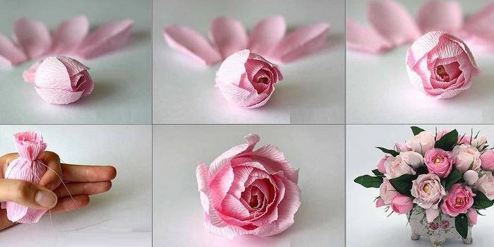 Как сделать букет роз из бумаги своими руками - Дом и гараж
