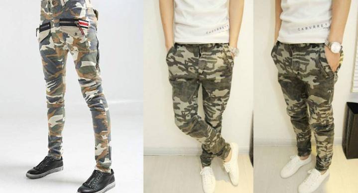 Чоловічі камуфляжні штани — молодіжний одяг в модному армійському стилі d6315ad912667
