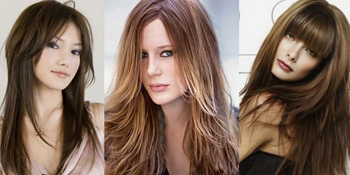 Фото с модными стрижками для длинных волос