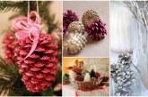 Як підготувати і прикрасити шишки для новорічного декору?