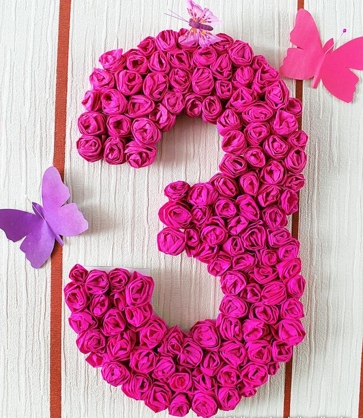Объемная цифра 3 на день рождения своими руками 39