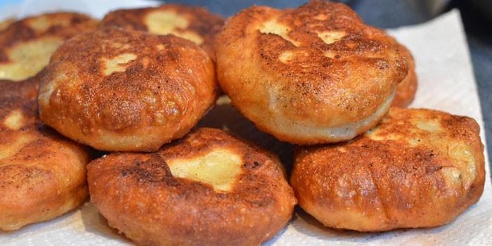 Пирожки жареные воде рецепт фото