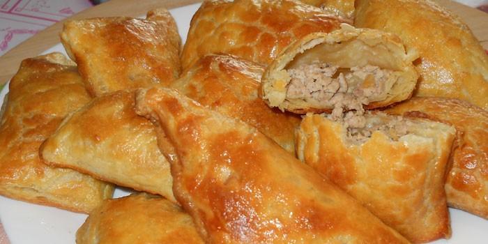 Рецепт пирожков с мясом с фото