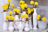 Як зробити інтер'єрні квіти з помпонів