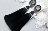 Сережки кисті з ниток, бахрама або бісеру — як зробити своїми руками і з чим носити біжутерію