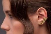 Сережки кафи на всі вухо золоті або срібні — як носити і де купити
