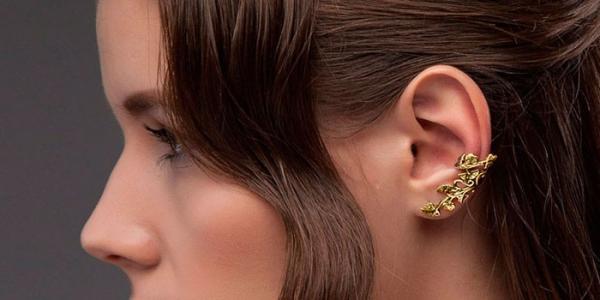 Серьги каффы на все ухо золотые или серебряные - как носить и где купить 44acbbceae0d0