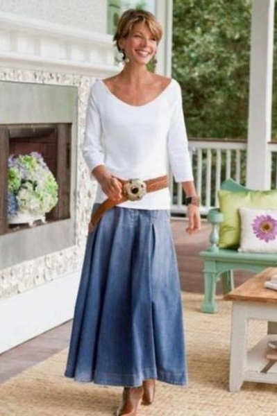 Стильная одежда для женщин после 50 лет  фото 176e624c8ac64