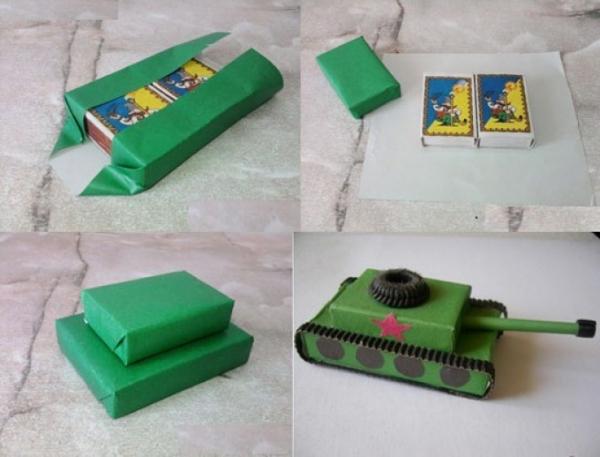 Как сделать своими руками танк из картона