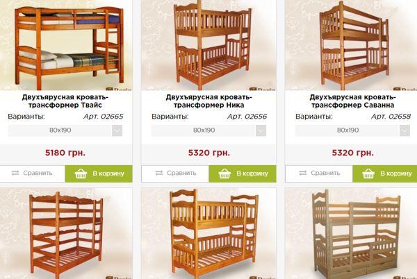 кровать-трансформер для детской